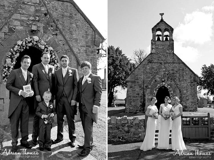 Ushers and bridesmaids