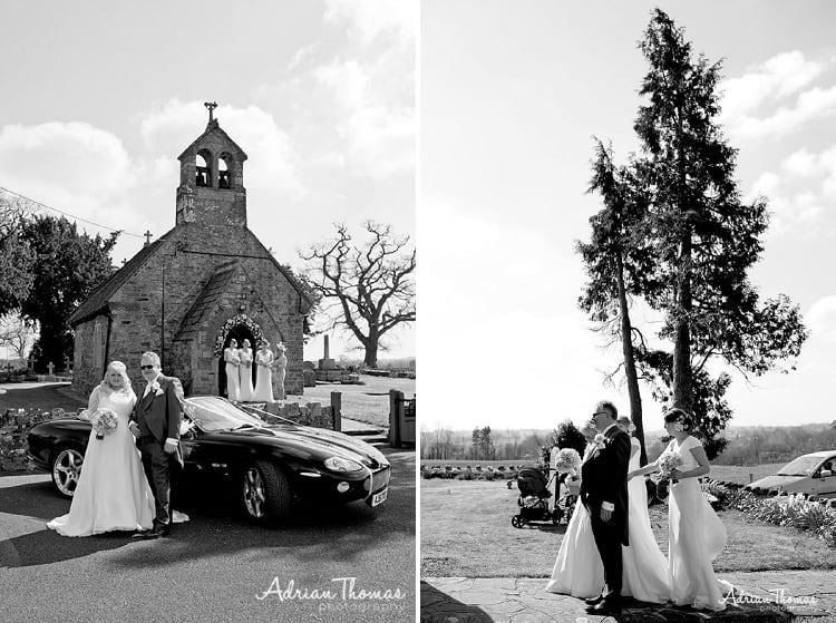 Bride arrival at St Bridget's Church