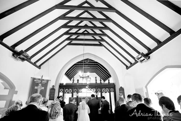 wedding ceremony at St Bridget's Church
