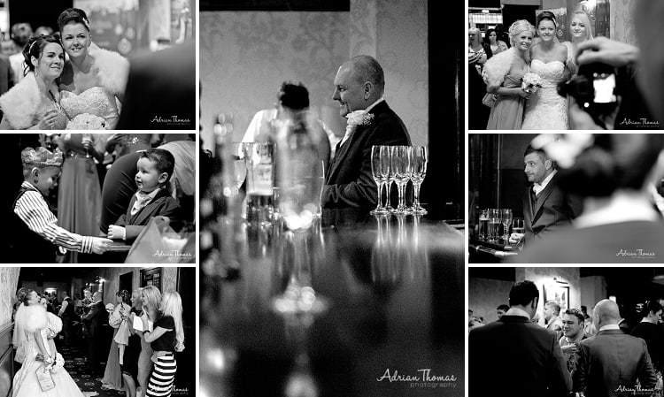 Guests enjoying drinks at reception