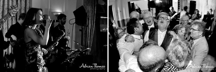 Band entertains wedding