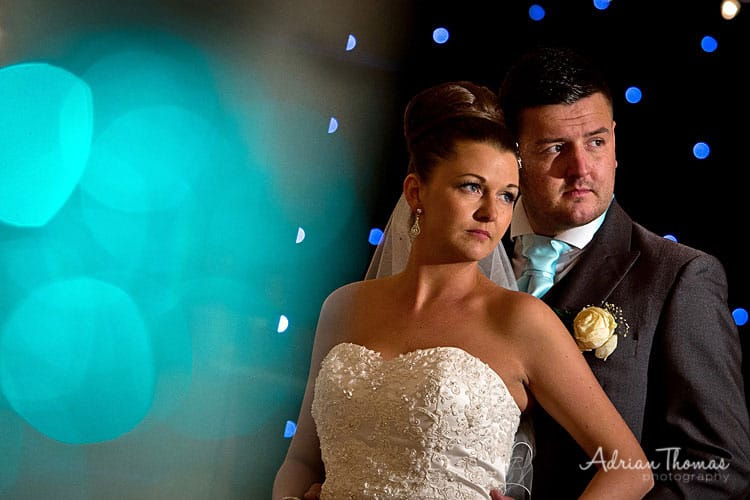 Romantic photograph of couple at Maes Manor reception venue