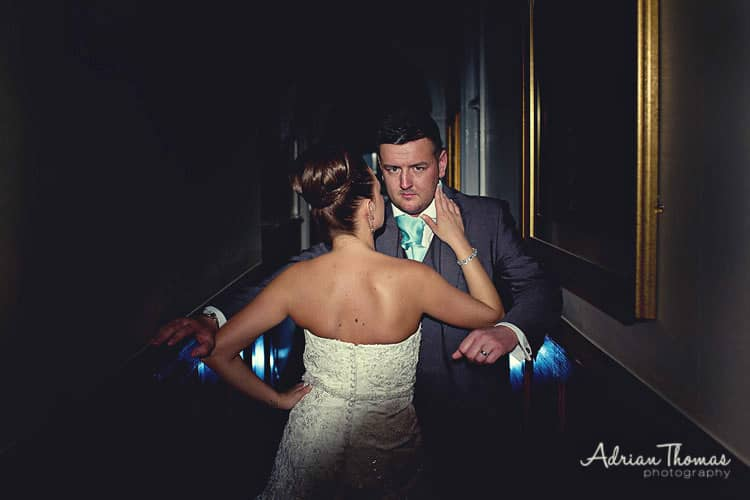 Cool groom at maes manor reception
