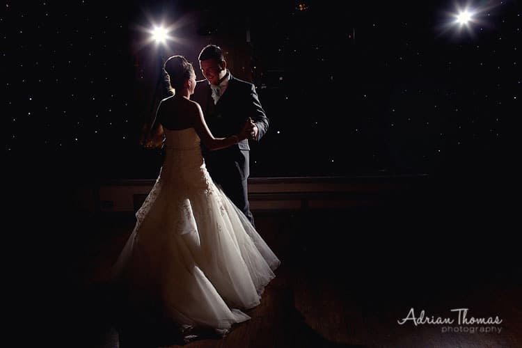 Image of bride and grooms 1st dance at Maes Manor Hotel