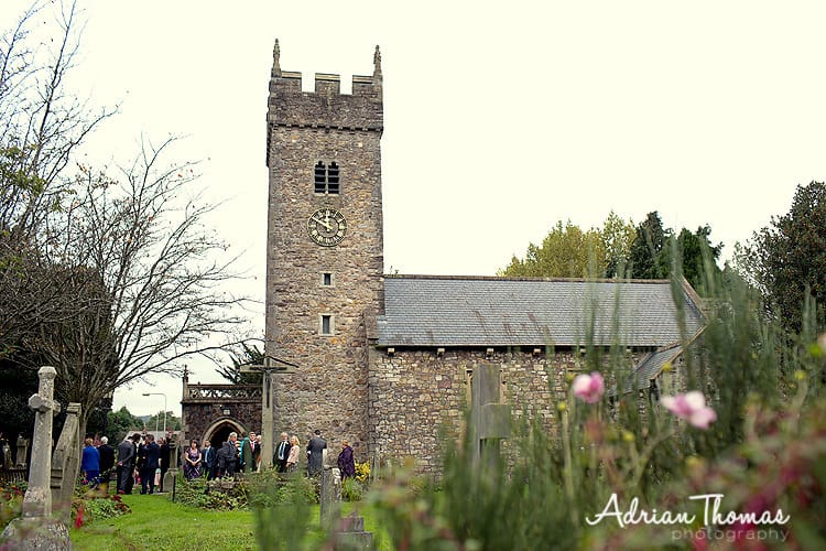 St Isans Church in Llanishen wedding ceremony