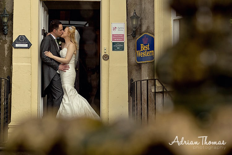bride and groom at New House Country Hotel