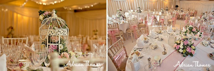 Wedding reception marquee