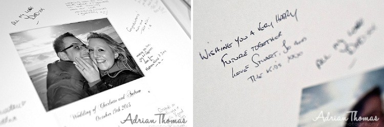 Guest signature book.