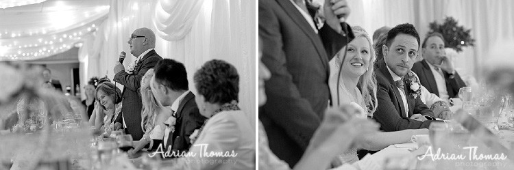 Dads speech watched by groom