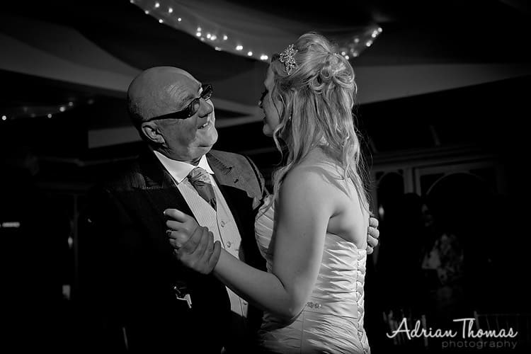 Bride and dad dancing