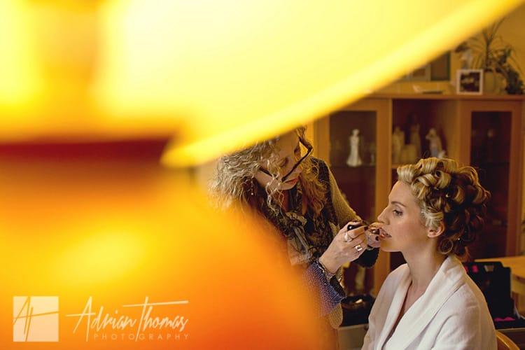 Bride preparations cardiff