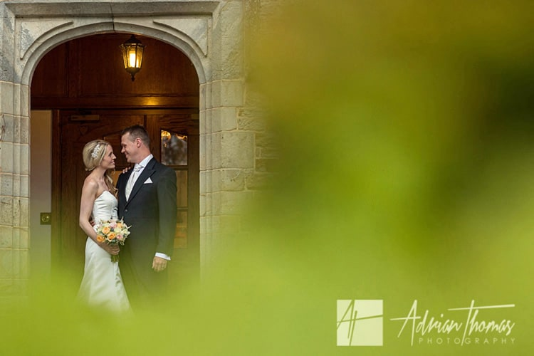Image of married couple at Bryngarw House wedding near Bridgend.