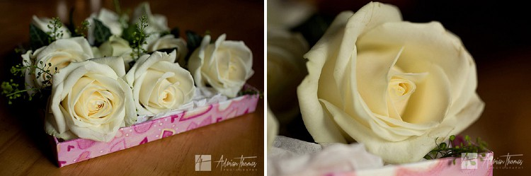 Groom buttonhole flowers.