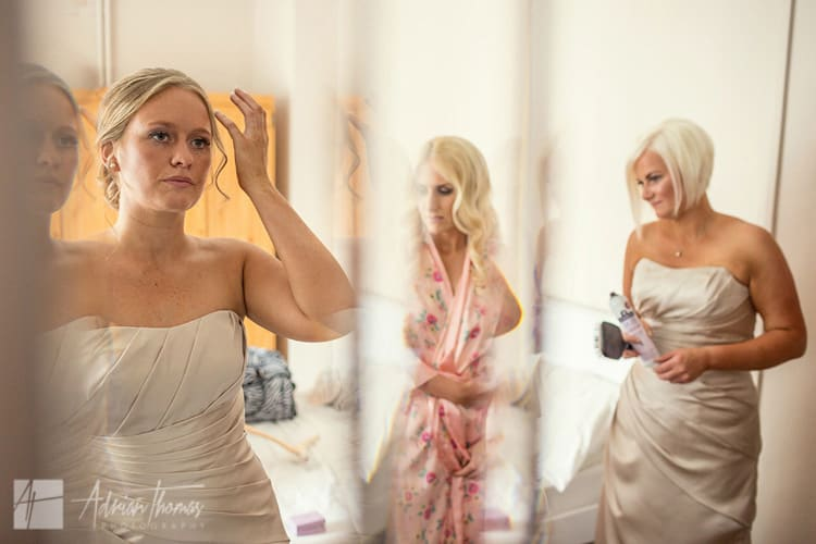 Bridesmaids final adjustments.