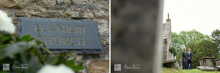 Llanilid Church sign.