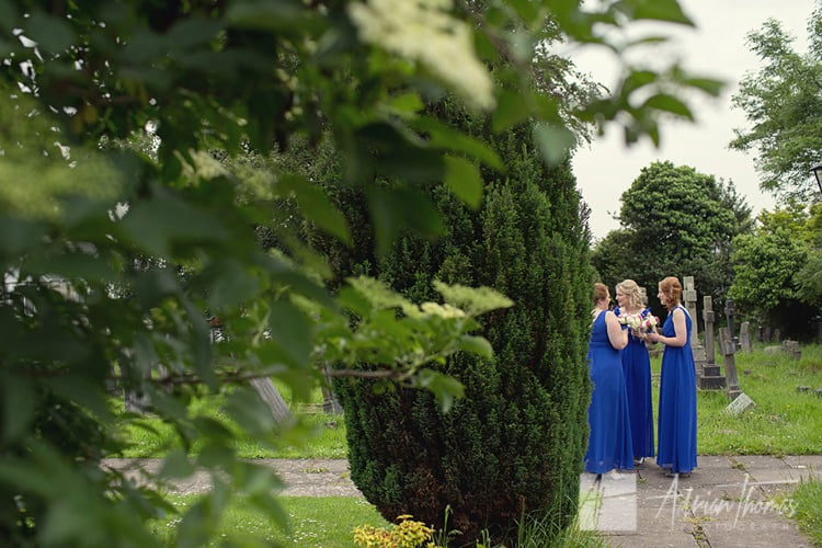 Bridesmaids at St Augustines Church.