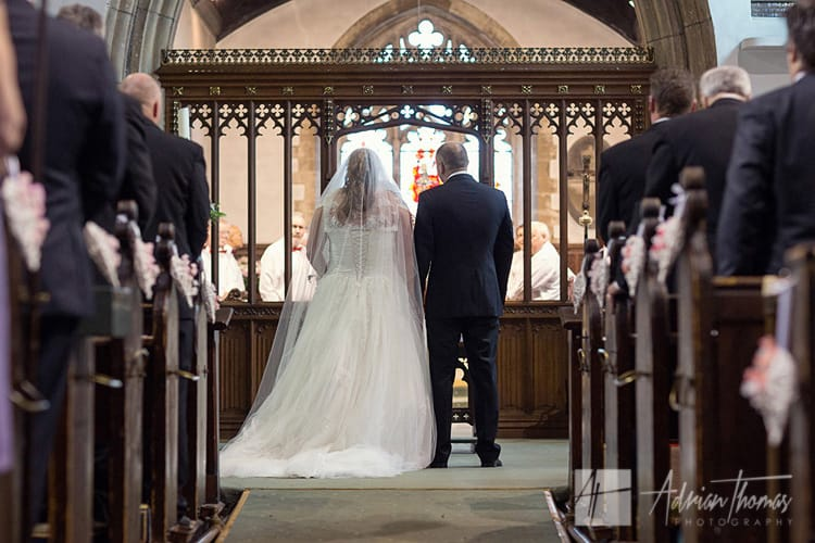 Bride and groom during service at St Augustines Church.
