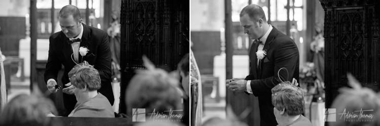 Bestman resenting wedding rings.