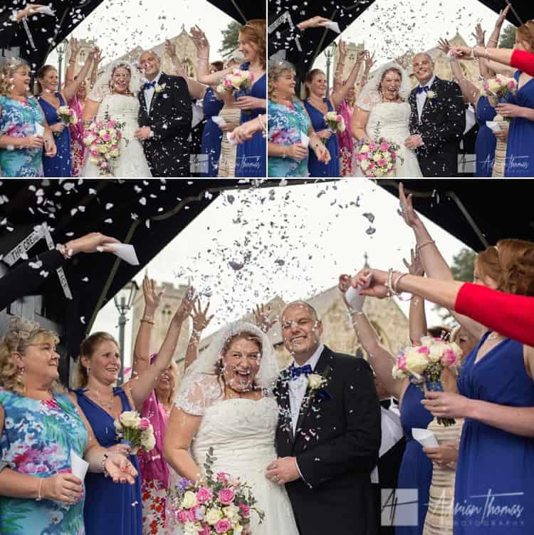 Confetti and wedding.