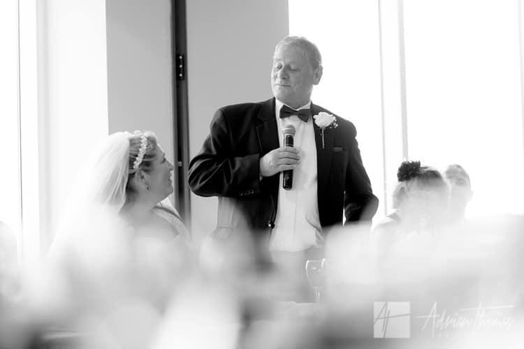 Dad during speeches.