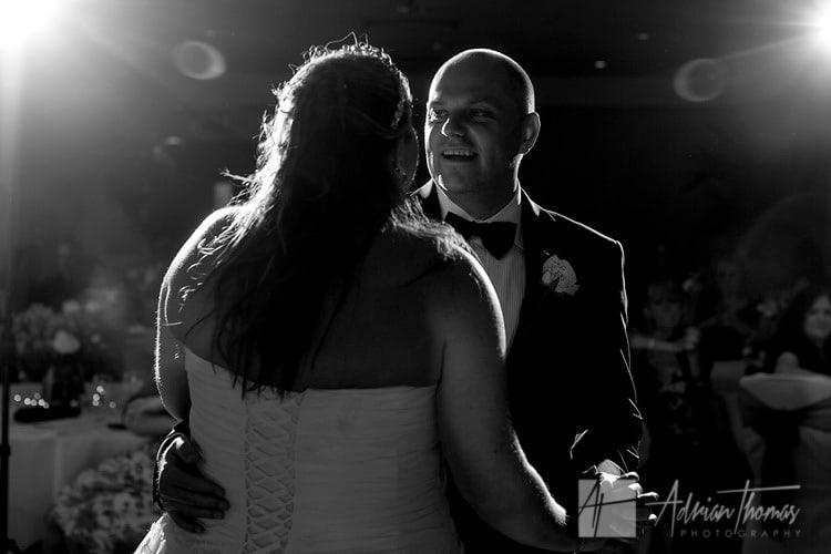 1st Dance at St Davids Hotel wedding.