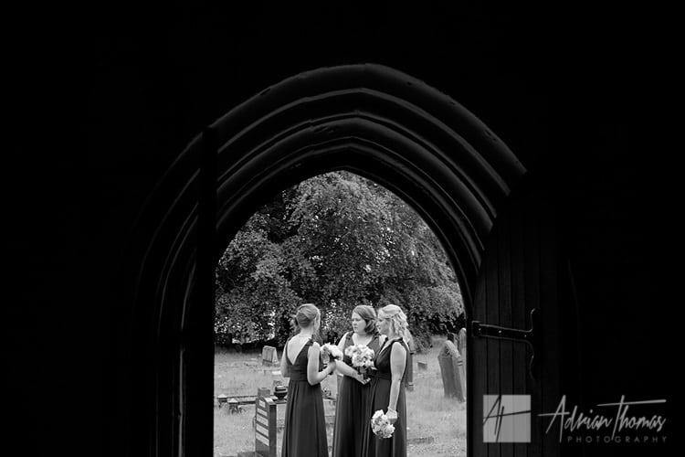 Bridesmaid awaiting bride.