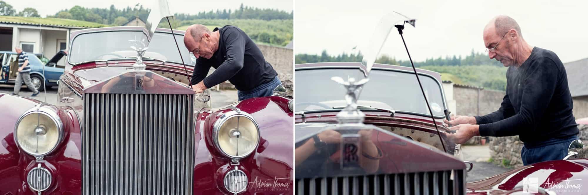 Wedding car engine service.