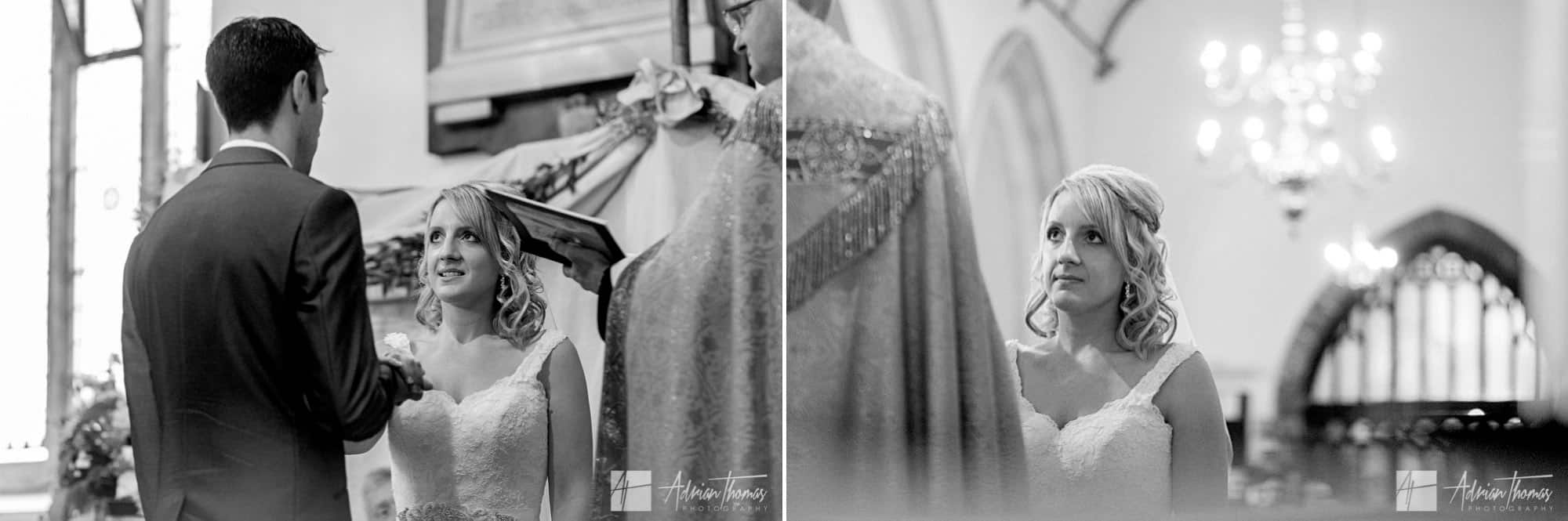Exchange of rings during wedding.