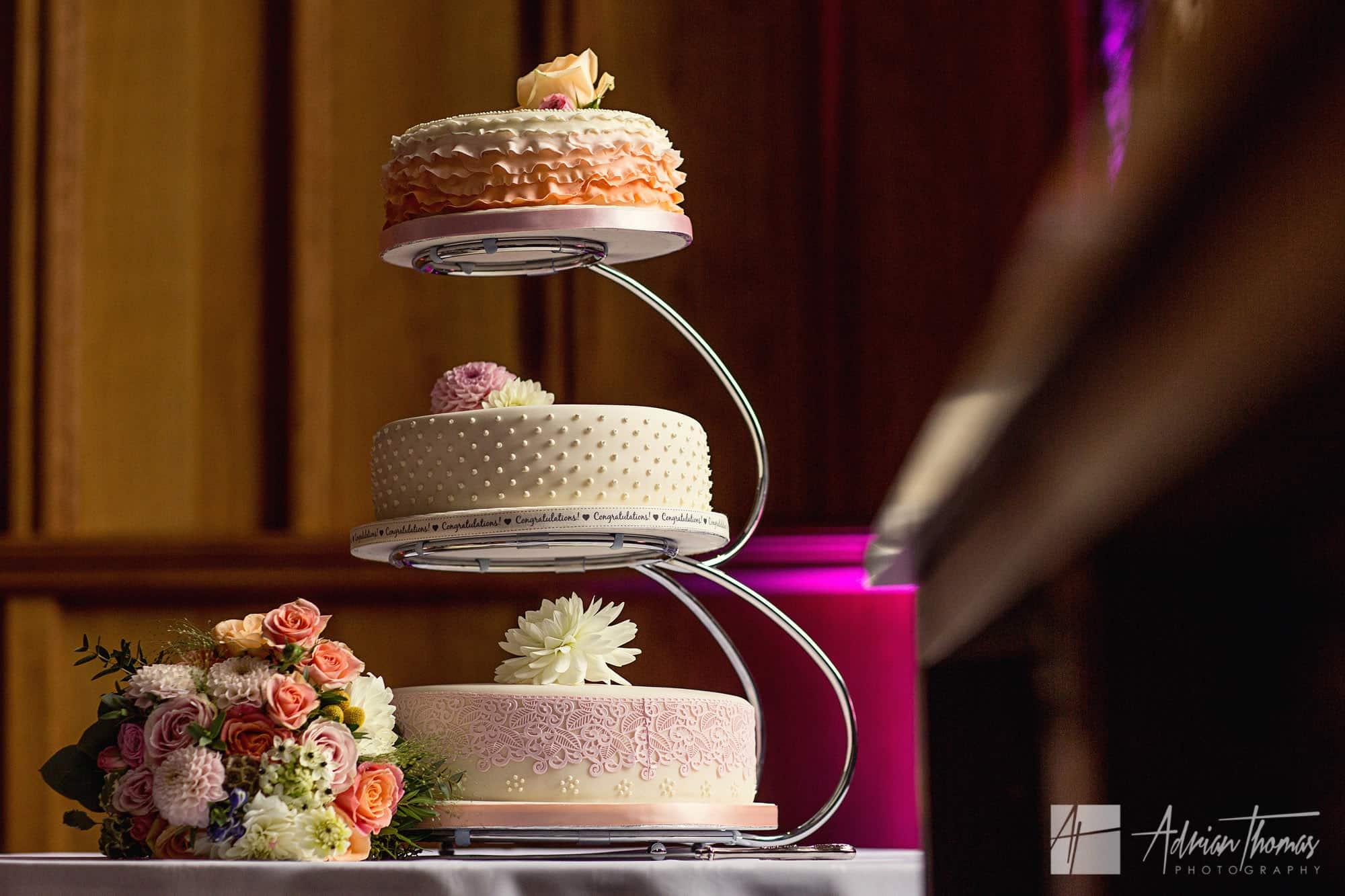 Wedding cake at Caerphilly Castle.