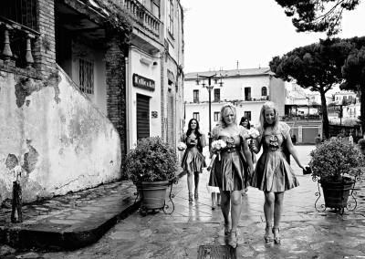 Wedding Portfolio photograph os bridesmaids in Italy