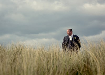 Groom at Burry Port Beach