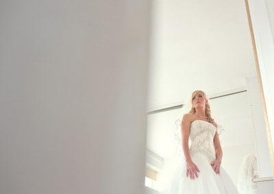 Bride during preparations.