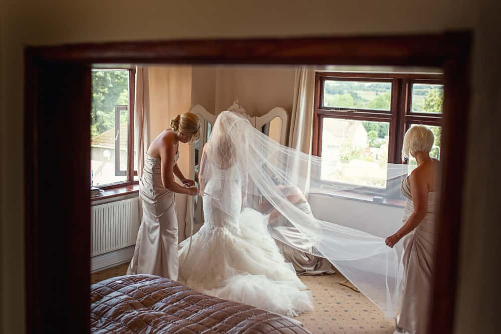 Image of bridal preparations.