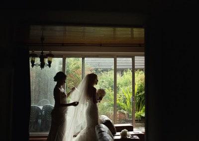 Bride preparations.