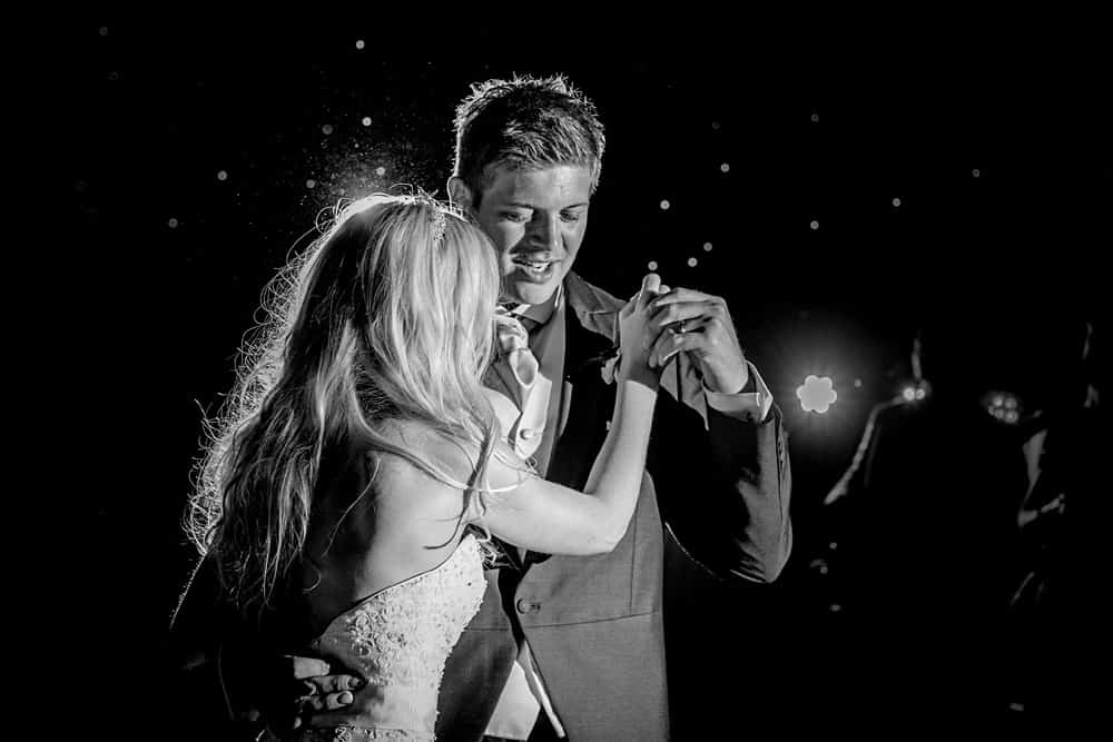 Bride and groom first dance shot by Wedding Photographer Cardiff