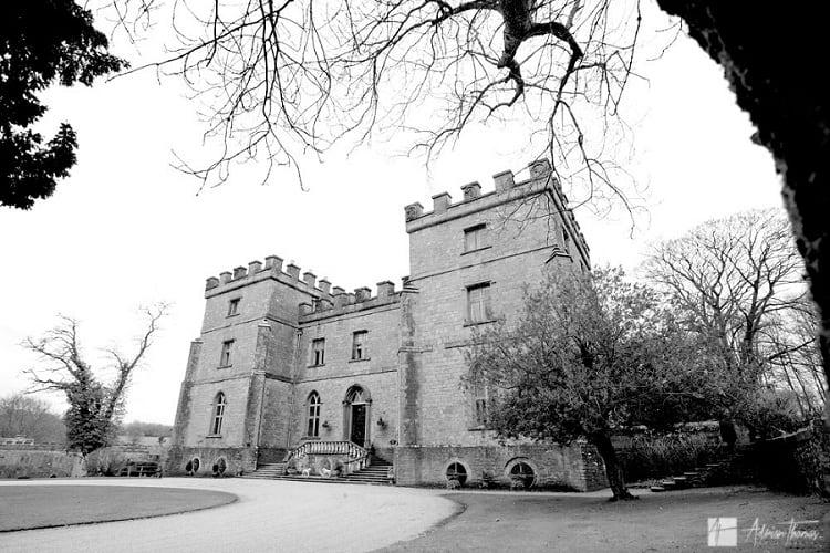 Clearwell Castle in winter.