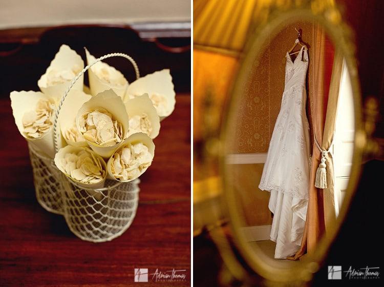 Photo of brides dress.