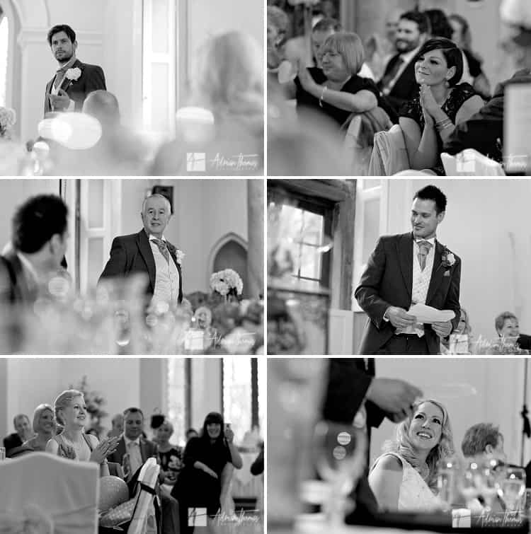 Best man and guests during speeches.
