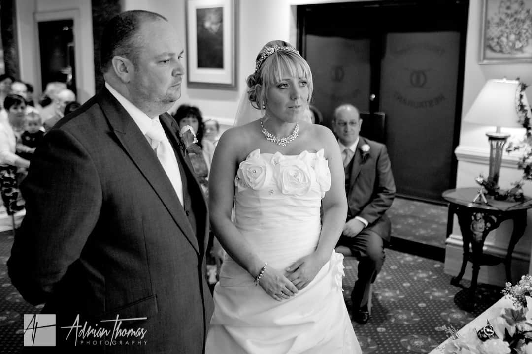 Civil ceremony couple in Llanelli wedding in The Diplomat Hotel venue.
