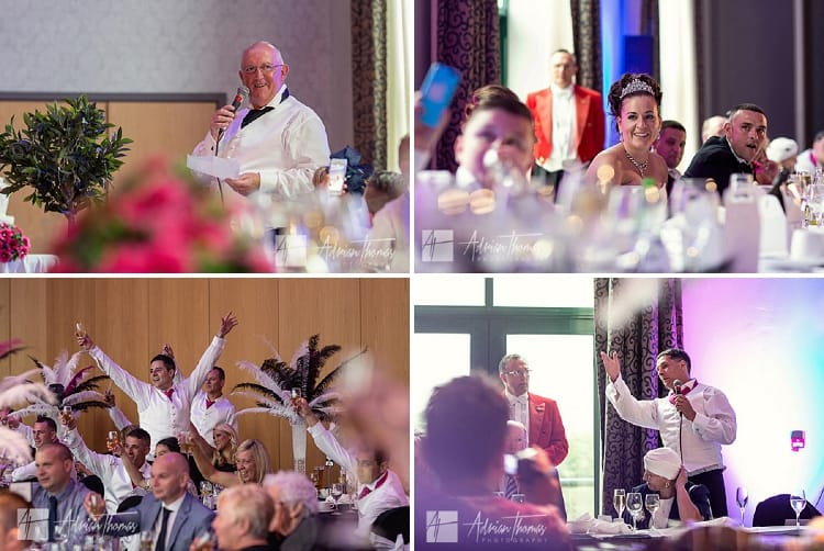 Photograph of speeches in The Vale Resort.