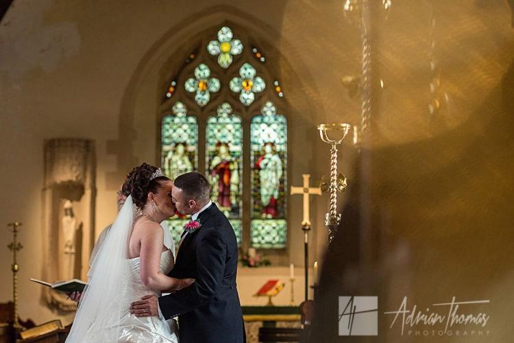 Photograph at St Edeyrns Church.