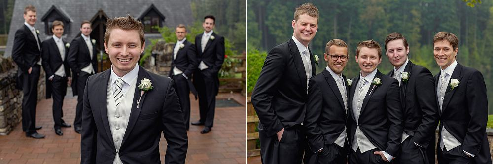 Groom with his best man and ushers