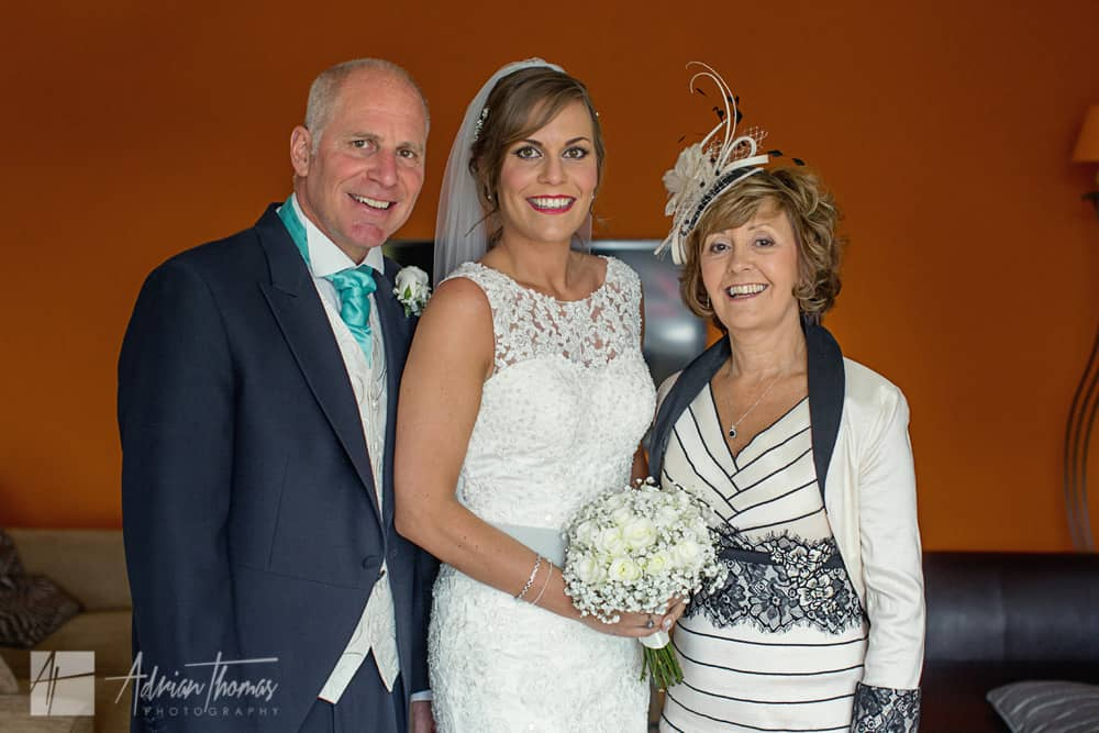 Bride with parents