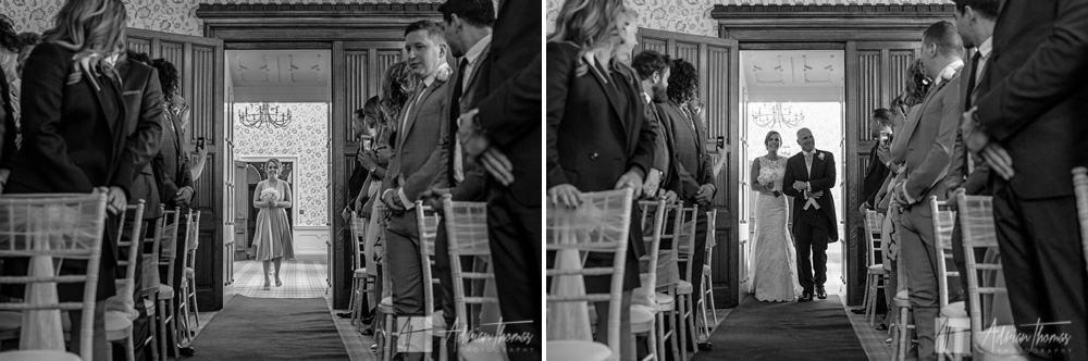 Dad walking bride down the aisle.