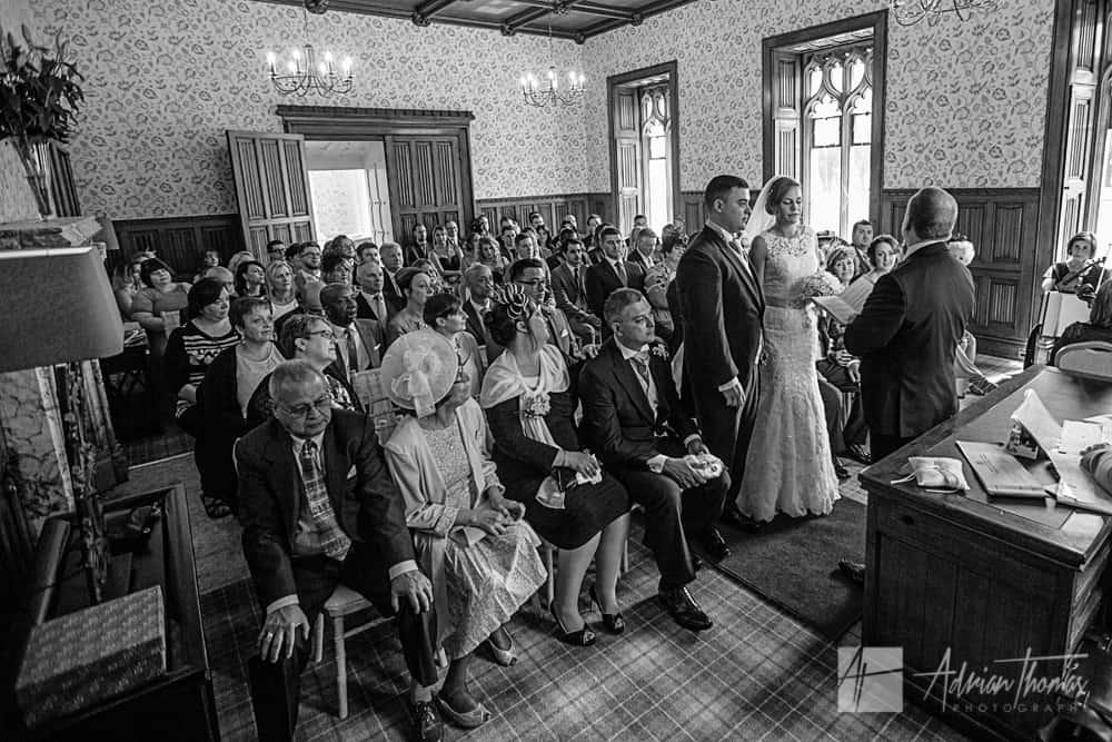 Wedding ceremony room of guests