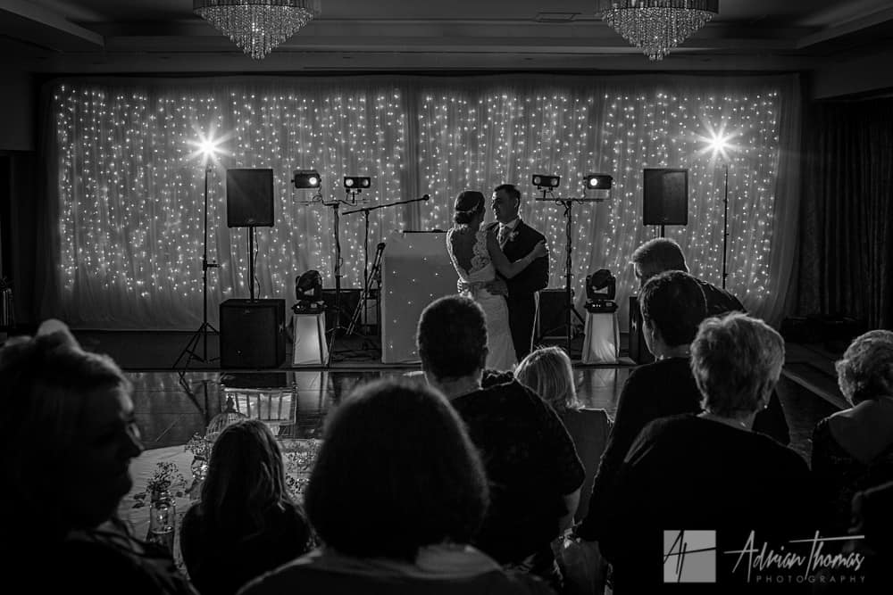 Bride and groom 1st dance at hensol castle wedding photography