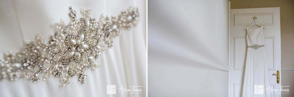 wedding dress details.