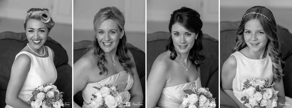 Image of Bride and bridesmaid at Buckland Hall.