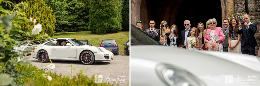 Porshe wedding car.