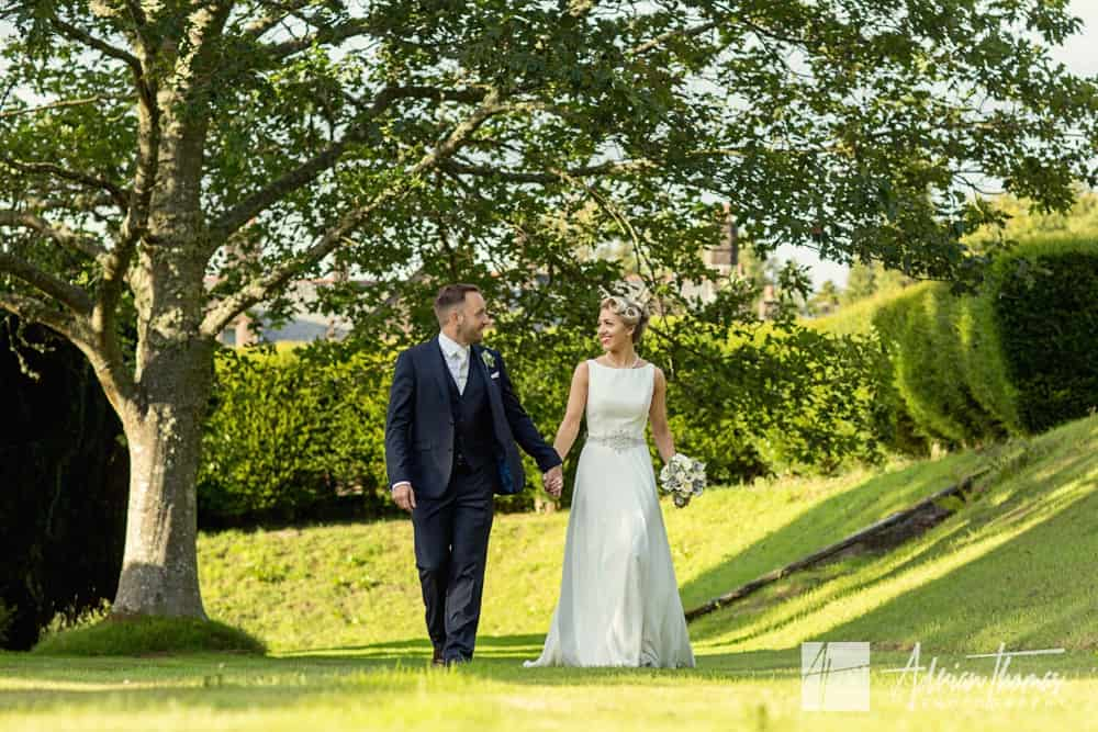 Bride and groom at Buckland Hall wedding venue